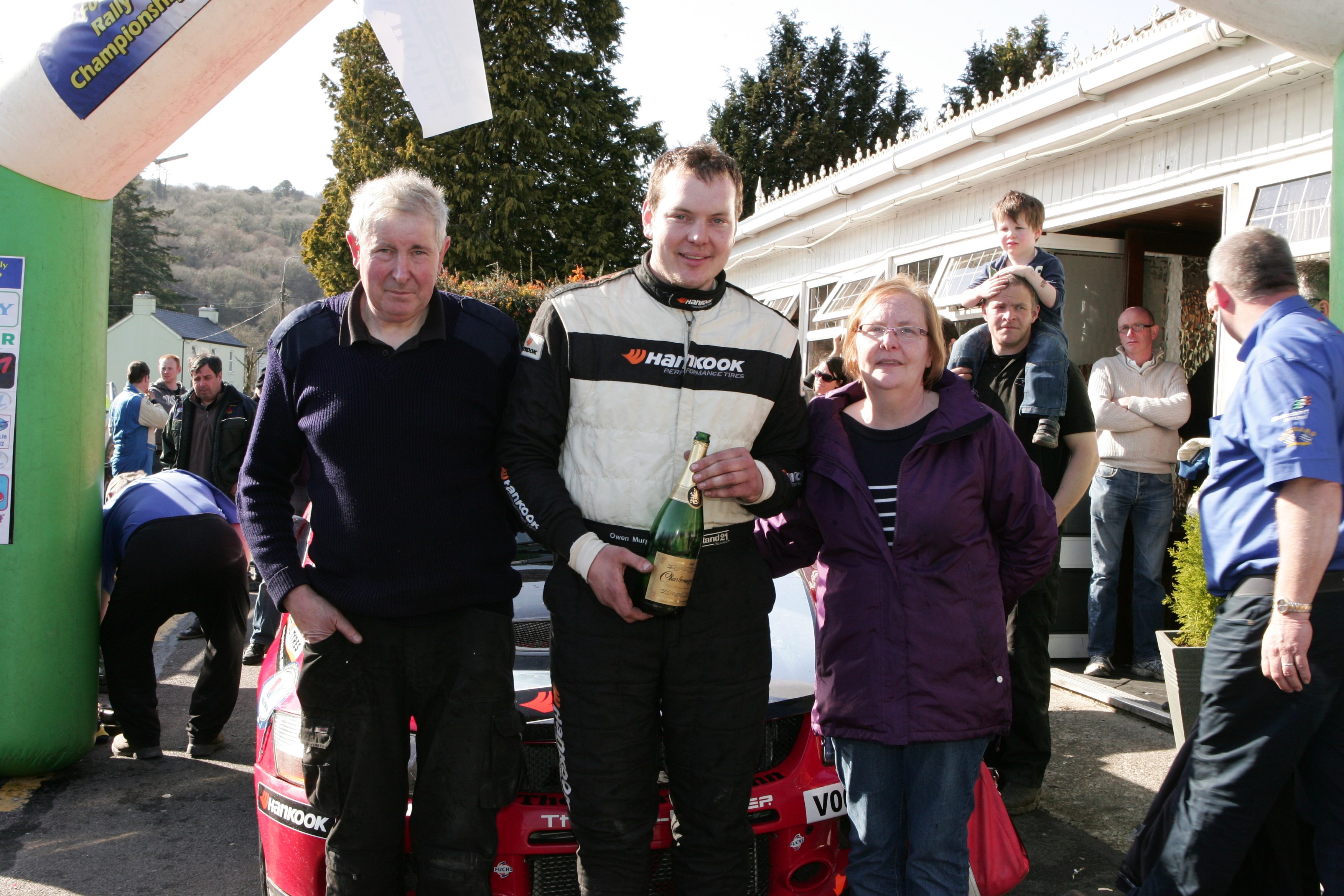 Owen Murphy 2014  Forest Rally Champion With his parents Jerry and Noreen   pic Ger Leahy 086 35 500 35 522